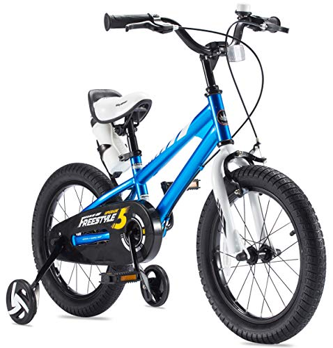 Royalbaby BMX Freestyle 16 inch Kid's Bike, Blue with Two Hand Brakes