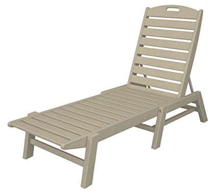 Brilliant Polywood Nac2280Sa Nautical Chaise Stackable Sand Short Links Chair Design For Home Short Linksinfo
