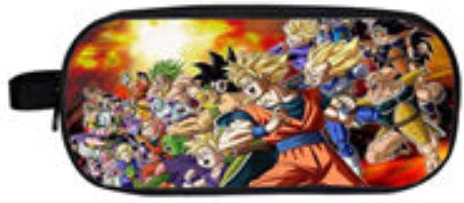Anime Dragon Ball Estuches Cosméticos Estuche para Lápices Sun Goku Estuche Escolar para Niños Estuches para Niños Bolsa De Maquillaje De Dibujos Animados N: Amazon.es: Hogar