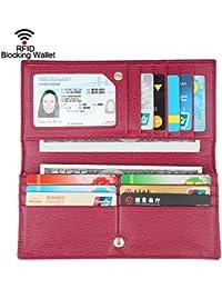 Big sale- 40% off-dante las mujeres RFID bloqueo Ultra Slim piel wallet-clutch wallet-shield contra el robo de...