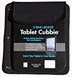 Tablet Cubbie Protective Patented 3-Ring Binder Neoprene Sleeve Case for iPad - e-Reader - Kindle - Tablets [iPad Air - iPad Mini - iPad Pro 9.7] Fits Over 40 Devices (Black)