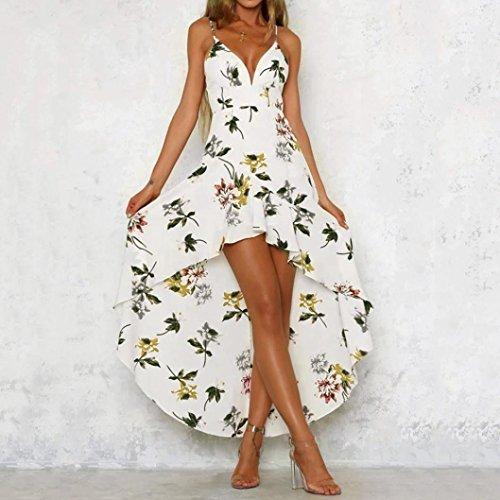 2018 Citas Flores Dama Bohemio Playa Playa Sonnena Sexy Sundrss Verano Mujeres Blanco Mujer de para Vestido 4 Maxi Verano Elegante Fiesta Mini vestid Verano Vestidos Fresco 8RxqIFn