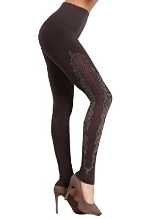 c073844bf48085 IQ Wear Women's Dress Up Leggings - High Waisted, Quality Material (One  Size (fits Small to Large), Lace Gray) at Amazon Women's Clothing store: