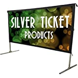 STO-169180 Silver Ticket Indoor/Outdoor 180 Diagonal 16:9 4K Ultra HD Ready HDTV Movie Projector Screen Front Projection White Material with Black Back (STO 16:9, 180)
