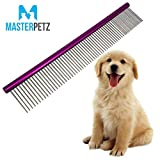 "Best Comb For Grooming Dogs - 10"" Dog Brush Pet Grooming Dematting Comb Review"