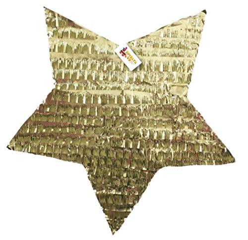APINATA4U Gold Star Pinata with Pull Strings