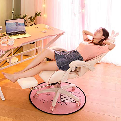 YYL kontorsstol ergonomisk racerstil kontorsstol, liggande hög rygg PU spel dator skrivbord stol med fotstöd svängbar stol