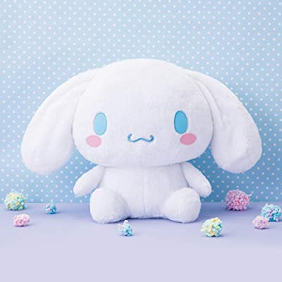 Cinnamoroll Sanrio with Smiling Mouth Jumbo DX 45cm Plush Doll by Furyu: Toys & Games