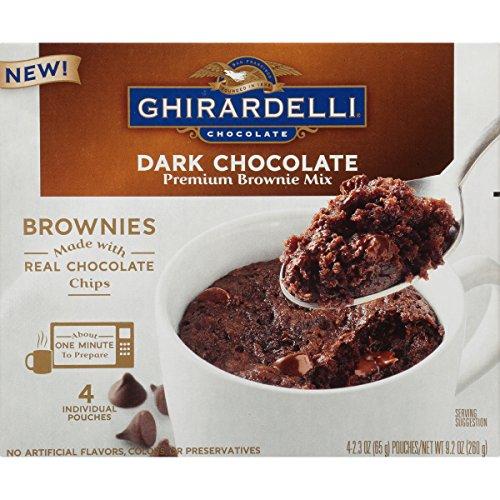 Ghirardelli Mug Brownie Mix, Dark Chocolate, 9.2 Ounce, 6 Count