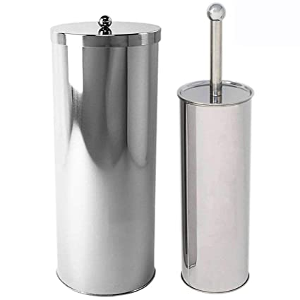 Attractive Huji Rust Resistant Stainless Steel Toilet Paper Canister Holder For  Bathroom Storage (1, Toilet