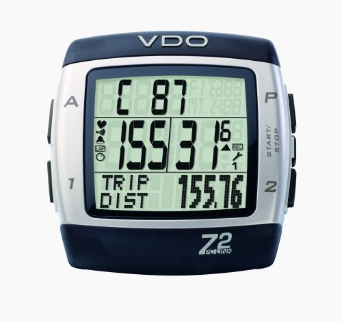 Vdo Cycle Computer (VDO Z2PC Link Heart Rate Monitor and Cycle Computer with PC Syncing Cable and Training Analysis Software)