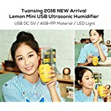 Swansome New 180ML Lemon Mini USB Portable Ultrasonic Humidifier DC 5V LED Light Air Purifier