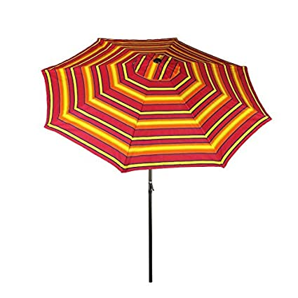 Outstanding Bliss Hammocks Umb 360 Patio Umbrella With Tilt Sun Stripes 9 Feet Onthecornerstone Fun Painted Chair Ideas Images Onthecornerstoneorg
