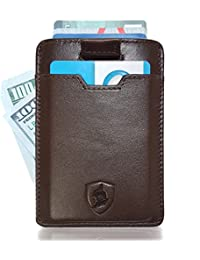 Slim Wallet Minimalistic Cards and Cash Holder – Genuine Leather – RFID Protection