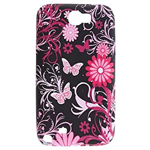 FJM Butterfly and Chrysanthemum Pattern Soft Case for Samsung Galaxy Note 2 N7100