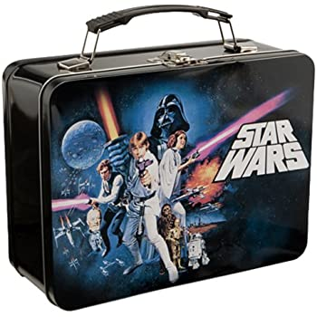 Vandor 99270 Star Wars Episode 4 Large Tin Tote Black  sc 1 st  Amazon.com : star wars lunch box - Aboutintivar.Com