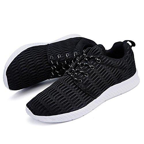de Negro Zapatos de Hombre Sintético Bebete5858 Cordones para 1P477q