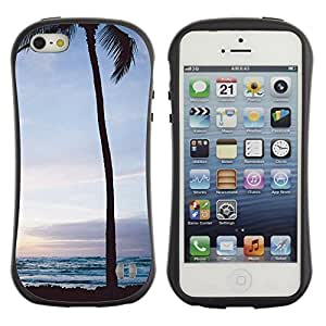 "Hypernova Slim Fit Dual Barniz Protector Caso Case Funda Para Apple iPhone SE / iPhone 5 / iPhone 5S [Árbol Sunrise Sunset cielo nocturno""]"