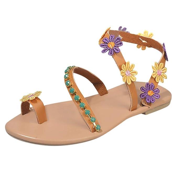Planas Mujer De Zapatos Playa Sandalias Verano Bohemia Estilo UVjLqMpzGS