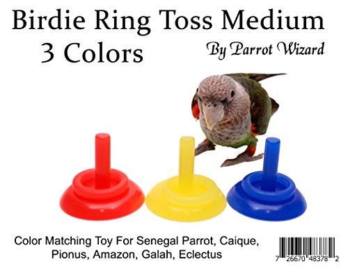 Birdie Ring Toss Trick for Parrots (3 Color, Medium)