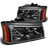 DNA Motoring HL-OH-CS03-2P-BK-AM Headlight Assembly (Driver & Passenger Side)