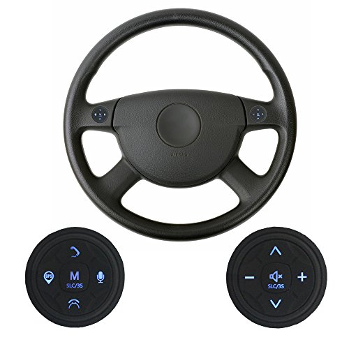 XISEDO Steering Wheel Control Buttons 10 Keys Car Steering Wheel Controller Wireless Remote Control Universal for Car Stereo, GPS Navigator, DVD Player