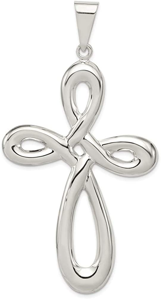 925 Sterling Silver Cross Religious Pendant Charm Necklace Fancy Fine Jewelry Gifts For Women For Her