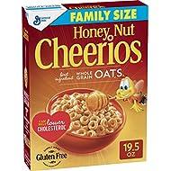 Honey Nut Cheerios Gluten Free, Cereal, Family Size, 19.5 Oz
