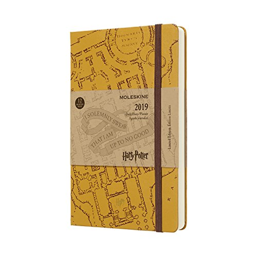 Moleskine 2019 12M Limited Edition Harry Potter Daily Large Daily Beige Hard Cover (5 x 8.25) Daily Planner and Appointment Book for Organizing, College, Hourly Planning