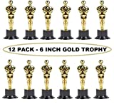 good art hollywood - Kidsco Plastic Trophy – 12 Pack 6 Inch Figure Trophy, Competitions, Awards, Ceremonies, Contests, Parties, Party favors, Props, Rewards, Prizes, Games, School, Field Day, Boys And Girls