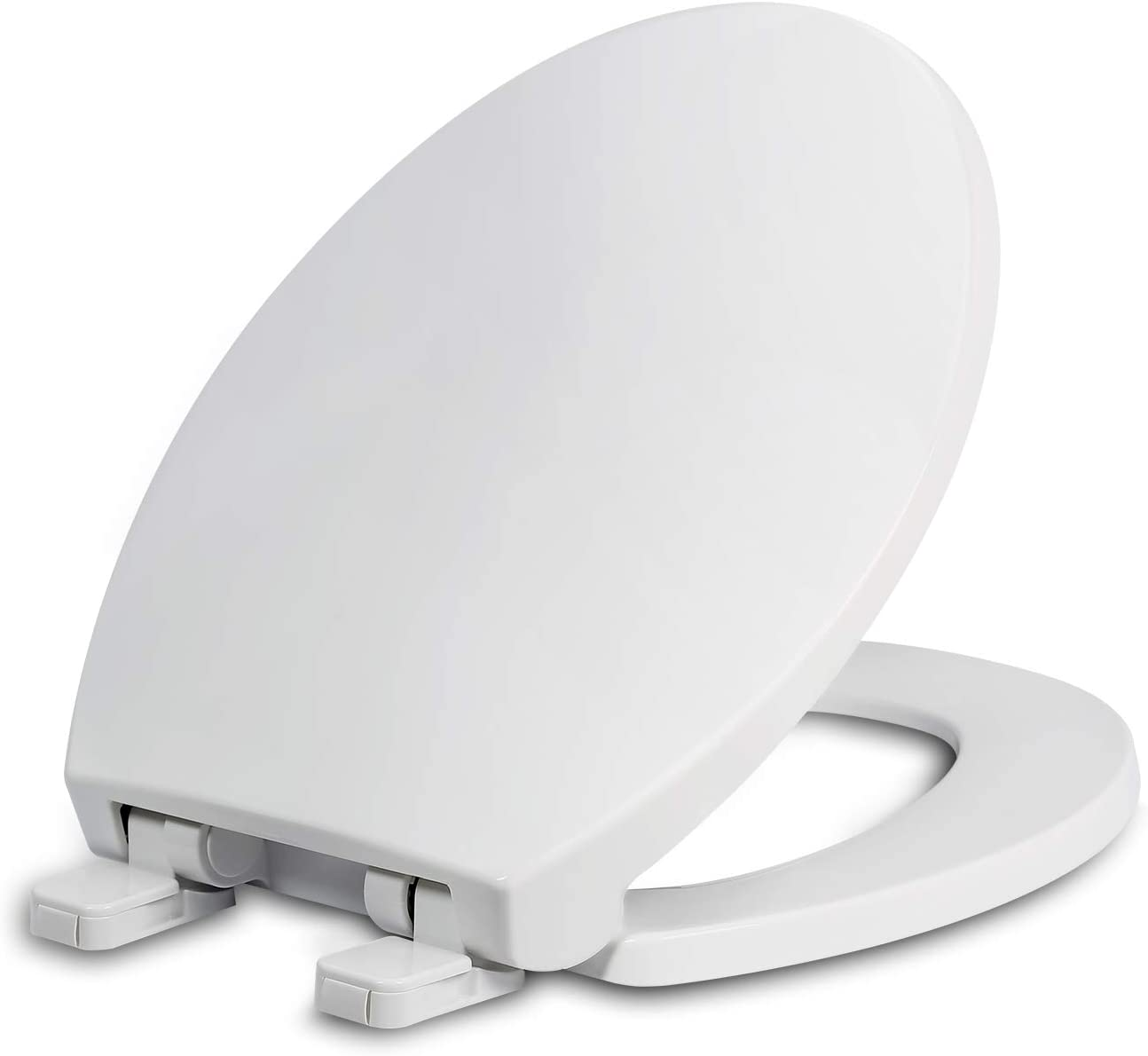 Kohler Slow Soft Close Round Closed Front Toilet Seat Cover Lid Grey Hardware