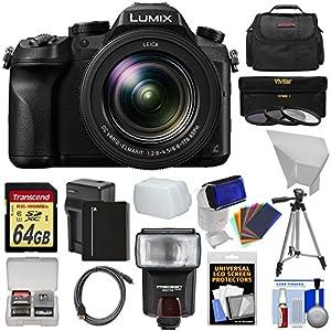 Panasonic Lumix DMC-FZ2500 4K Wi-Fi Digital Camera with 64GB Card + Battery & Charger + Case + Flash + Diffusers + Tripod + 3 Filters + Kit