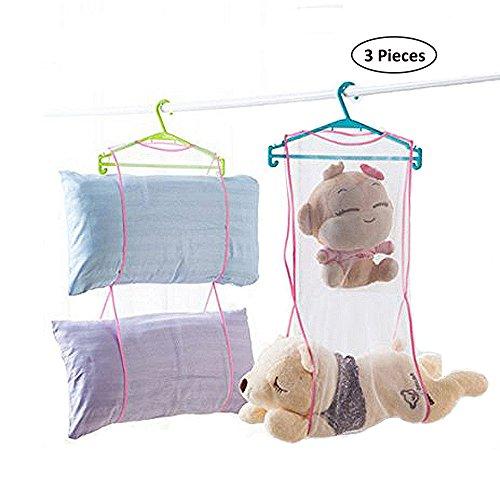 SYOOY 3PCS Portable Pillow Hanging Dryer Rack Doll Drying Ne