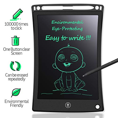 Price comparison product image MYMAHDI LCD Writing Tablet,  8.5 inch Doodle Board,  Electronic Drawing & Writing Board,  with Smart Writing Stylus for Kids Gifts,  School, Office,  Fridge or Family Memo,  Black