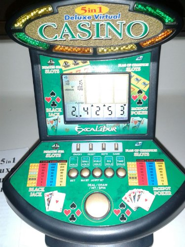 Excalibur Deluxe Virtual Casino 5-in-1 Video Game