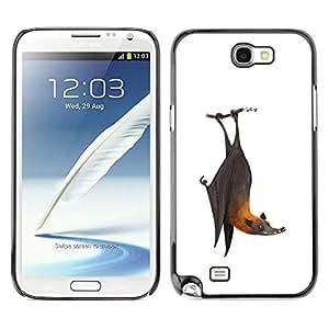 """For Samsung Note 2 N7100 Case , Bat lindo blanco frío gris Animal"""" - Diseño Patrón Teléfono Caso Cubierta Case Bumper Duro Protección Case Cover Funda"""