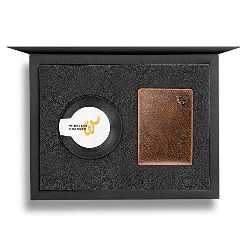 Woolet Classic 2.0 最新テクノロジーと革職人の技術を兼ね備えた革財布 メンズ 二つ折り 小銭入れなし 人気 ブランド 薄い 紛失防止 盗難防止 アラート機能搭載 B07DCTXXYN ブラウン × ギフトボックス ブラウン × ギフトボックス -