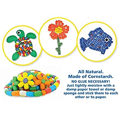 CAPTAIN CREATIVE CC10610 Magic Nuudles Bold Mix, 500 Mini and Regular Noodles, STEM Arts and Crafts Toy for Kids - Build, Decorate, Create Biodegradable and Non-Toxic, Multicolor: Toys & Games