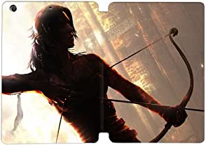 Cubierta de cuero y caja de la PC funda / soporte para funda de Apple iPad Mini 1,2,3 funda Con Magnetic reposo automático Función de despertador DIY por Tomb Raider Q8R3Gb5R9Kl
