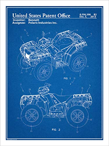 laris ATV All Terrain Vehicle Patent Print Art Poster UNFRAMED Blueprint 18