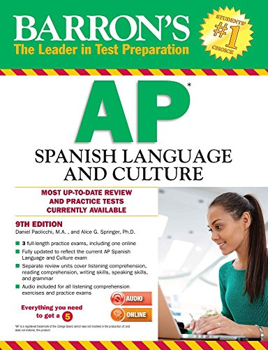Barron's AP Spanish Language and Culture with MP3 CD, 9th Edition