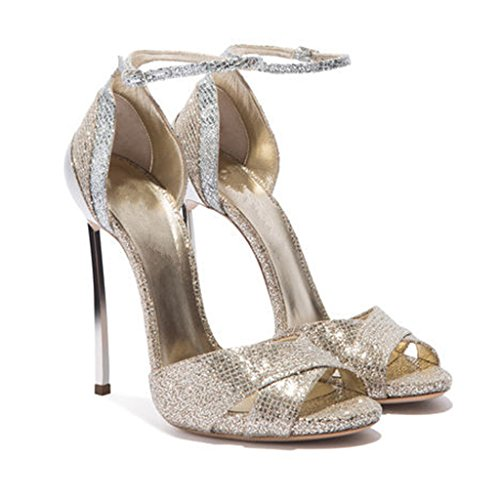 Heels High With Sandals Mouth Women's Girls Gold Elegant Buckle Bag Fish Fashion qRqwvOz4