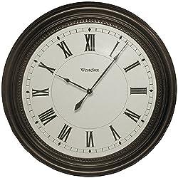 Westclox 32223 Round Bronze Oil Rub Case Finish Clock, 16-Inch