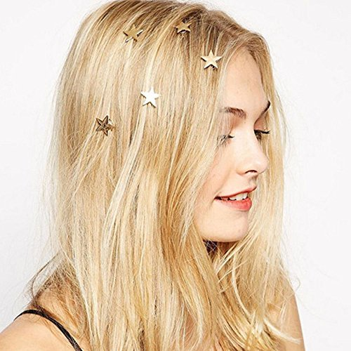 Women Styling Metal Star Gold Swirl Spring Hair Clip Hairpin Hair Accessory Gift
