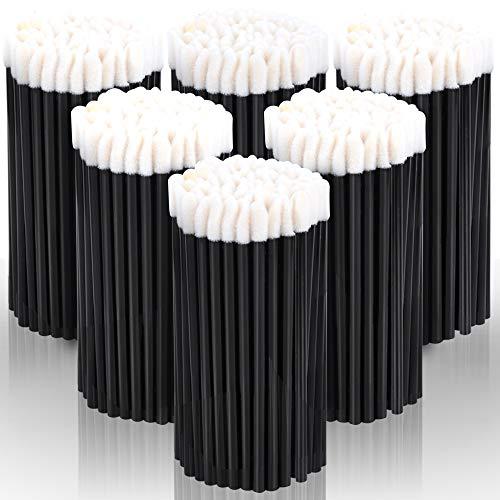 Teenitor 600 Pcs Disposable Lip Wands Applicator Lint Free Makeup Lipstick Lip Gloss Testers