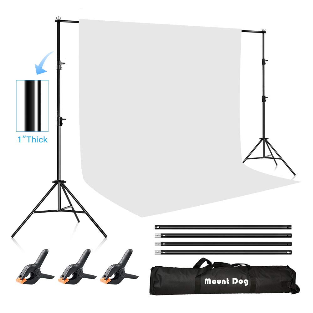 MOUNTDOG 6.5ftx10ft / 2M x3M Backdrop Support Stand Adjustable Photography Studio Background Support System Kit with Carrying Bag for Photo Video Shooting by MOUNTDOG (Image #9)