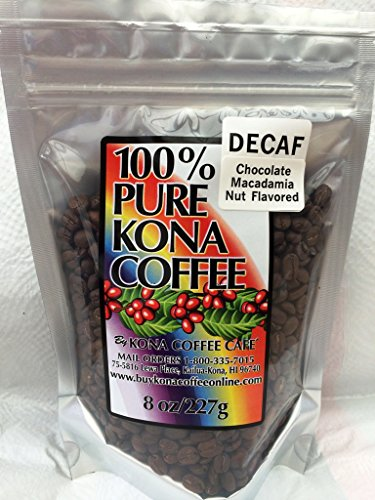 Decaf Kona Coffee, Chocolate Mac-nut Flavored Whole Bean - (Macadamia Nut Flavored Decaf Coffee)