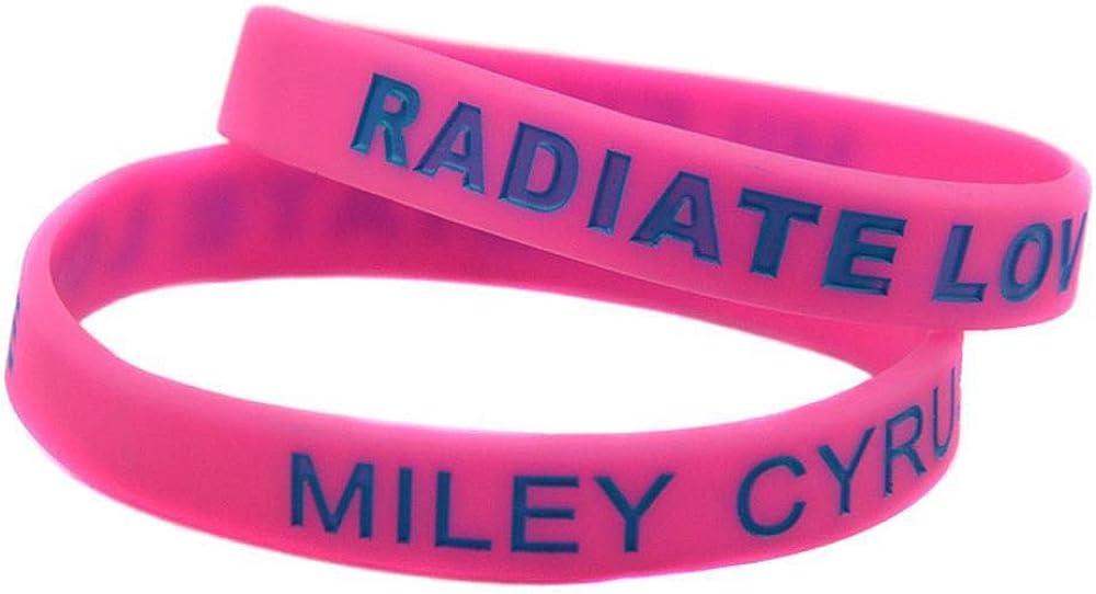 Vempires Bracciali da Uomo Silicones Braccialetto Allenamento Sport Centro Miley Cyrus Radiate Love Braccialetto Fitness 10 Pz D