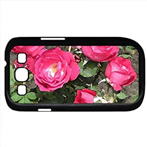 Flowers on a walking day 83 (Flowers Series) Watercolor style - Case Cover For Samsung Galaxy S3 i9300 (Black)