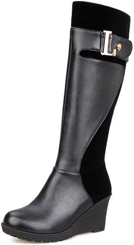 CUTEHEELS Women Knee High Wedge Boots